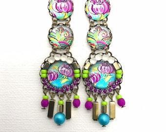 edc93361575b8 Happy earring   Etsy
