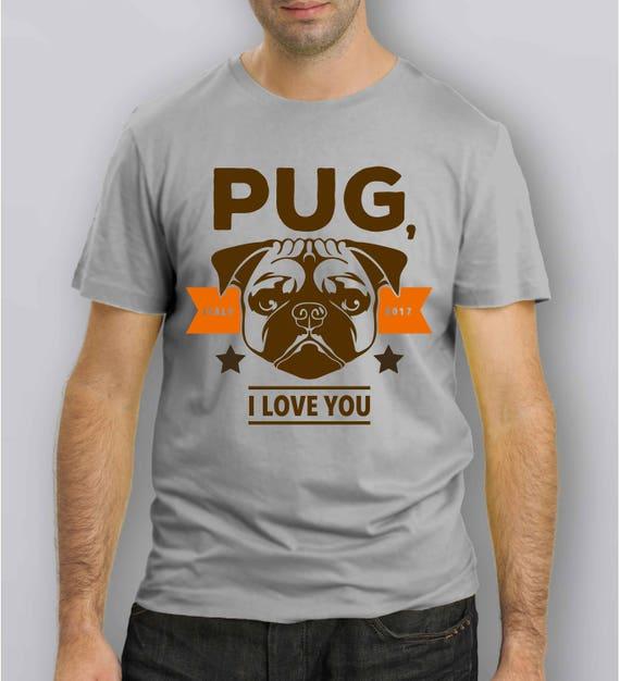 028C T Shirt CARLINO PUG I Love You
