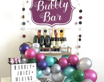 champagne 'bubbly' bar printable poster-sized sign for your bubbly bar or champagne station (downloadable file)