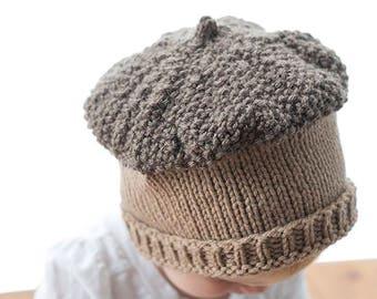 Fall Acorn Hat KNITTING PATTERN - knit baby hat pattern for babies 26753289da8