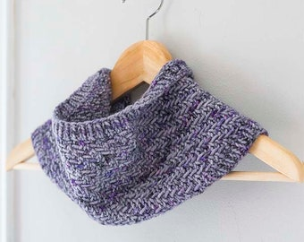 Hazel Herringbone Cowl KNITTING PATTERN / Knit Cowl Pattern / Easy Cowl Pattern / Easy Knit Pattern / Cowl Knit Scarf / Cowl Scarf Pattern