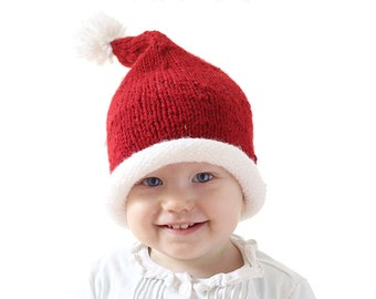 Baby Santa Hat KNITTING PATTERN   Santa Hats for Kids   Santa Hat Newborn   Santa  Hat Pattern   My First Christmas   Santa Hat for Infant 443d3ae785d6
