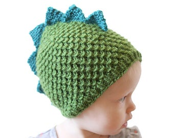 36507ec5462f81 Dragon Hat Pattern KNITTING PATTERN for babies and toddlers   Dinosaur Hat  Pattern   Dinosaur Baby Hat  Knit Dragon Hat Baby Dinosaur Outfit
