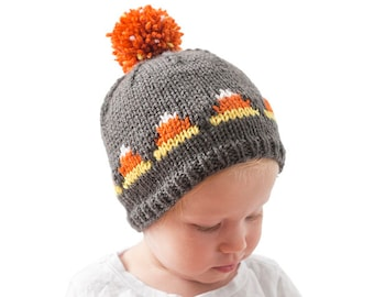 Baby Candy Corn Hat KNITTING PATTERN / Candy Corn Outfit / 1st Halloween Outfit / Halloween Hat Ideas / Newborn Halloween /Fair Isle Pattern