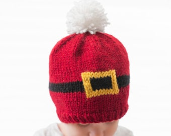 Baby Santa Suit Hat KNITTING PATTERN   Santa Hat Pattern   Santa Belt   My  First Christmas   Baby Santa Suit  Baby Santa Hat Xmas Santa Belt 2b3e5c9de3e