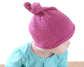 Top Knot Hat KNITTING PATTERN   Top Knot Hat Pattern   Baby Knot Hats   Top  Knot Toddler   Knot Hat Baby   Top Knot Beanie   Knots Hats e106934cc76