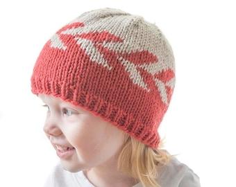 Zipper Hat KNITTING PATTERN / Geometric Hat Knitting Pattern / Herringbone Knitting Pattern / Modern Baby Hat Knitting Pattern