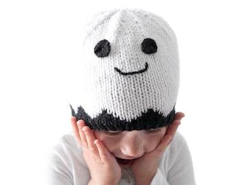 Little Ghost Hat KNITTING PATTERN / Ghost Pattern / Knit Ghost Pattern / Ghost Costume / Baby Ghost Costume