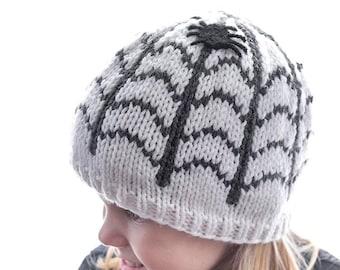 Spiderweb Hat KNITTING PATTERN / Halloween Spiderweb Pattern / Knit Spiderweb Hat / Baby Spider Hat / Baby Halloween Hat /
