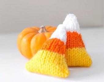 Candy Corn Handwarmer KNITTING PATTERN / Knit Candy Corn Pattern / Knit Sachet Pattern / Pocket Hand Warmer Knitting Pattern
