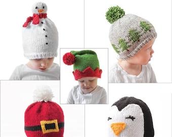 7e4e5f0f9bd Save 20%! 5 More Christmas Hat KNITTING PATTERNS  Christmas Hat Baby My  First Christmas Christmas Outfit Knit Christmas Hat Christmas Beanie