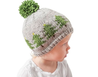 Christmas Tree Hat KNITTING PATTERN   Christmas Pattern   Winter Hat Pattern    Fair Isle Pattern  Tree Hat Toddler Tree Hat Evergreen Trees ed21a040bc5d