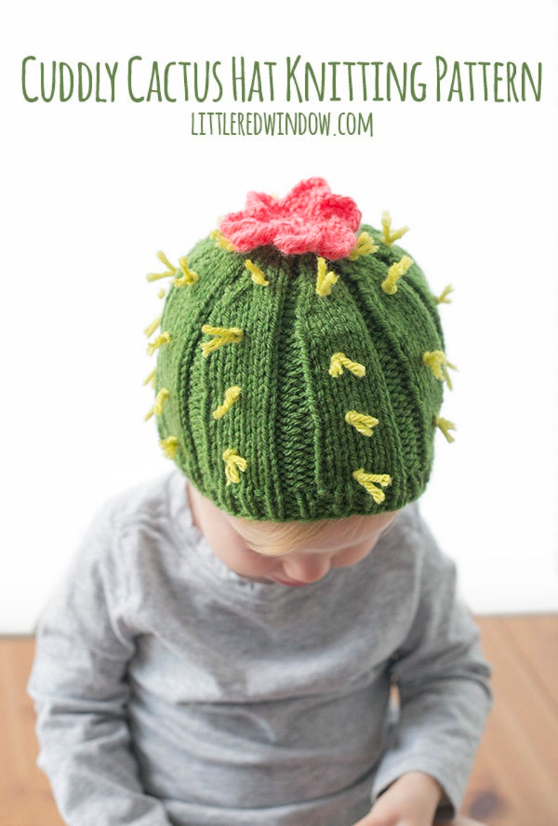 3f01409abd7 Cuddly Cactus Hat KNITTING PATTERN   Knit Cactus Pattern