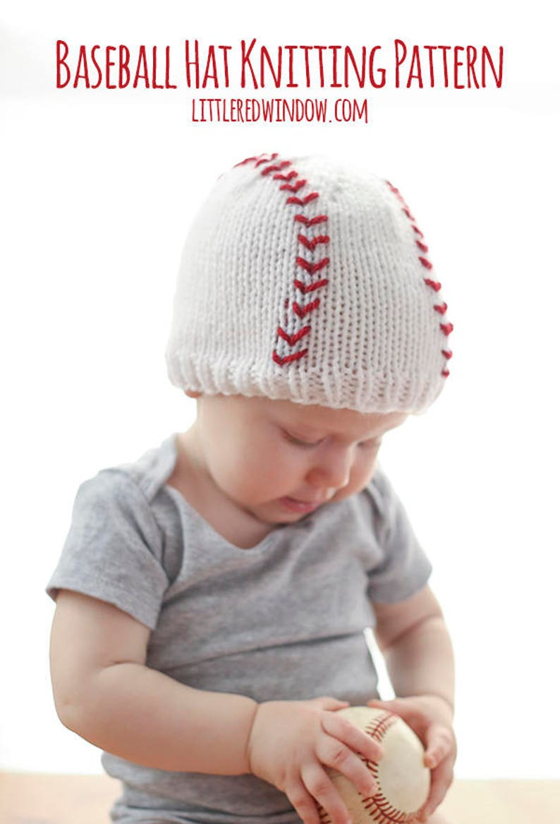 Baby Baseball Hat Knitting Pattern Baseball Hat Pattern Etsy