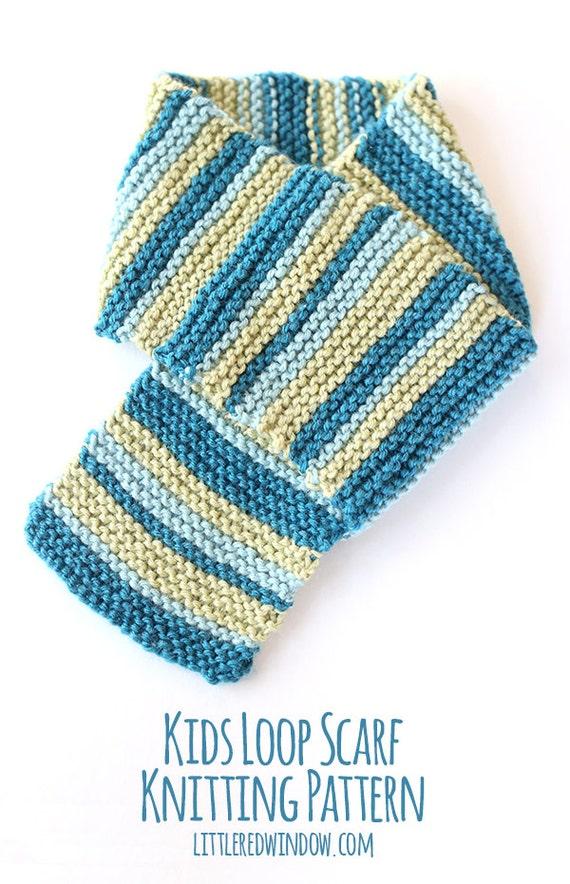 Kids Loop Scarf Knitting Pattern Loop Scarf Pattern Kids Etsy