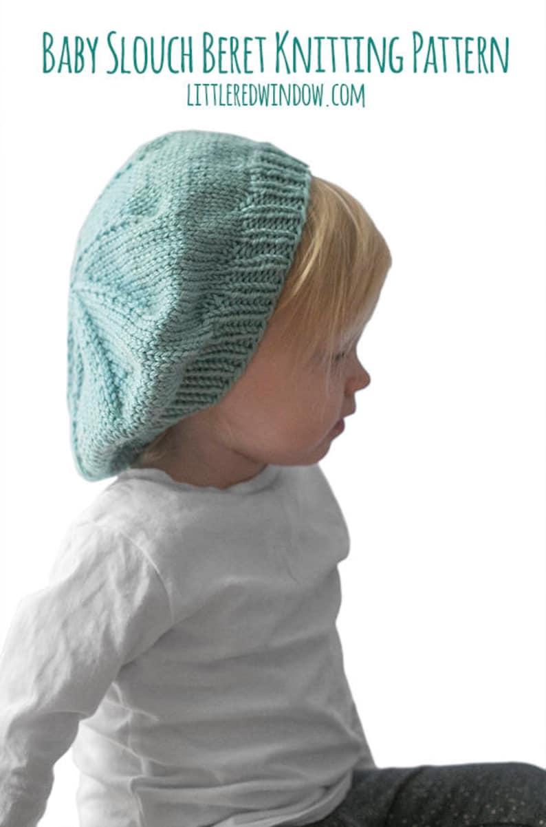 dab38a55 Slouchy Baby Hat KNITTING PATTERN / Knit Beret Pattern / | Etsy