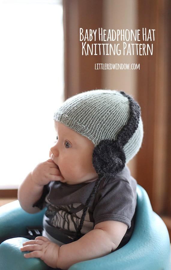 Babymütze mit Kopfhörer STRICKMUSTER / Super Baby Geschenk / | Etsy