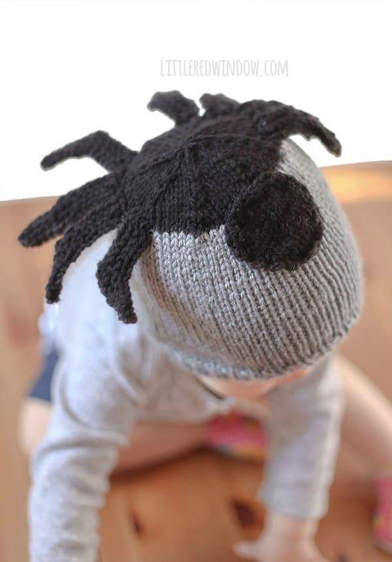Sombrero de araña bebé tejer patrón patrón de punto sombrero   Etsy