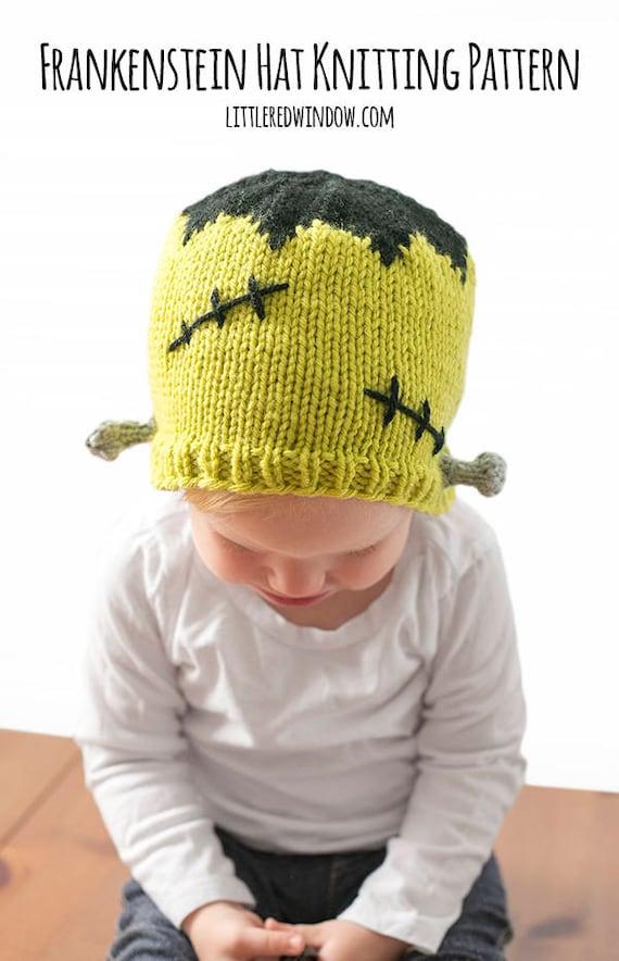 Frankenstein Hat Knitting Pattern Monster Hat Pattern Etsy
