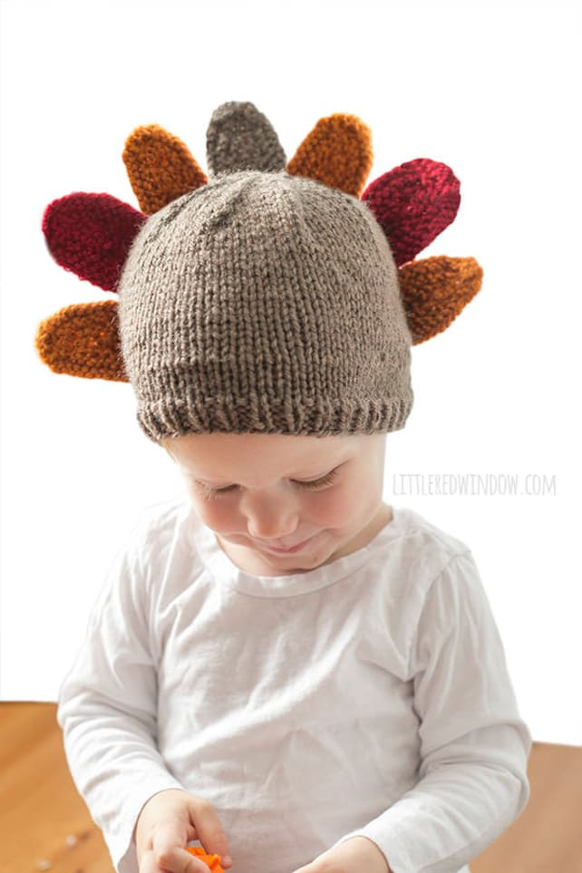 Thanksgiving Turkey Hat KNITTING PATTERN for babies and | Etsy