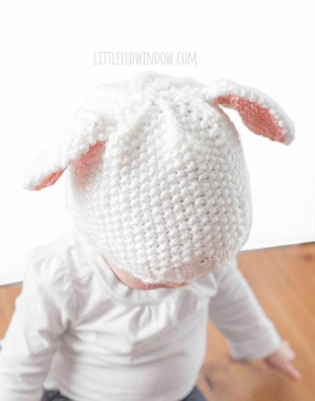Sombrero del bebé que hace punto patrón del cordero blanco | Etsy
