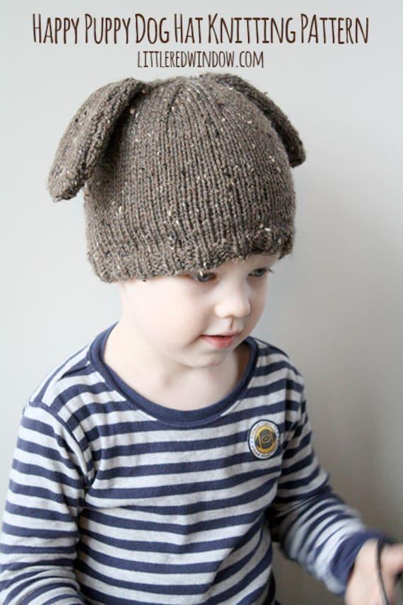 Babymütze Hund STRICKMUSTER / Baby Mütze Hund / junge Welpen | Etsy