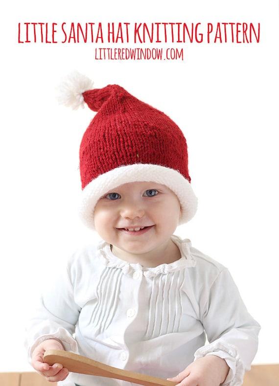 Baby Santa Hat KNITTING PATTERN / Santa Hats for Kids / Santa | Etsy