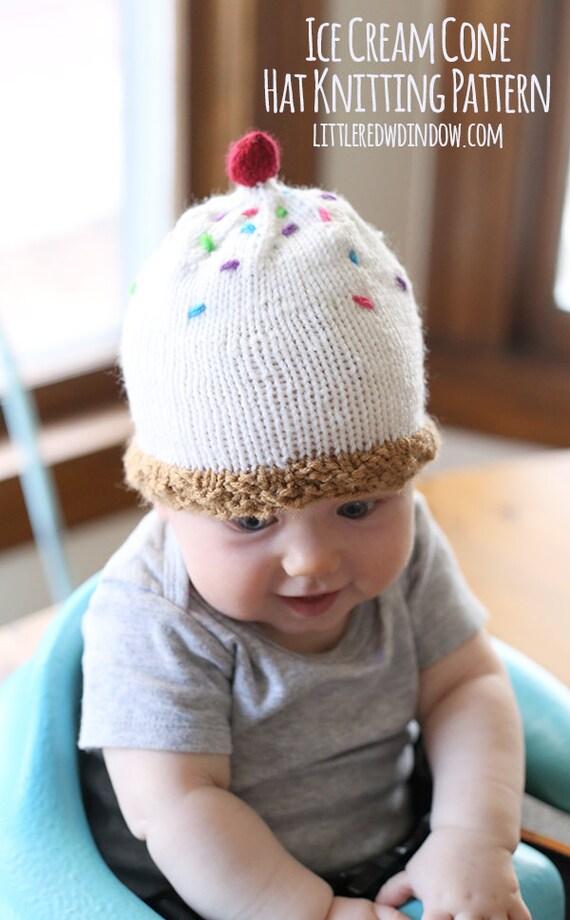 Ice Cream Cone Babymütze Strickanleitung / Eis Baby Geschenk / | Etsy