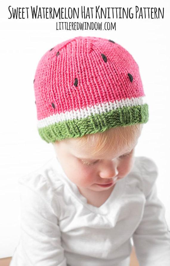 Newborn Watermelon Hat Fits 0-3 months