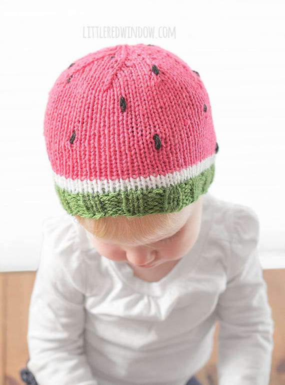 Watermelon Baby Hat Knitting Pattern Watermelon Pattern Etsy