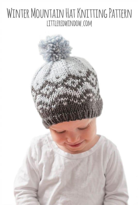 Winter Mountain Hat KNITTING PATTERN / Fair Isle Pattern/ Fair | Etsy