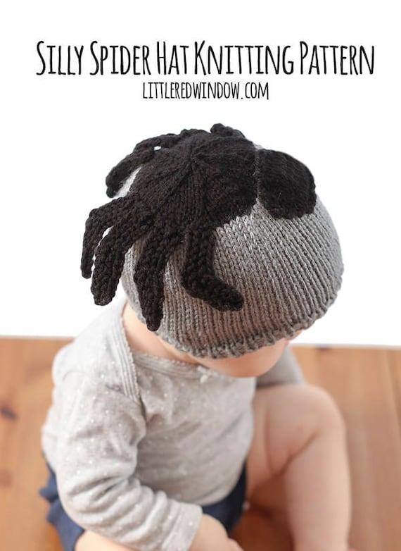 Baby Spider Hat Knitting Pattern Halloween Knit Hat