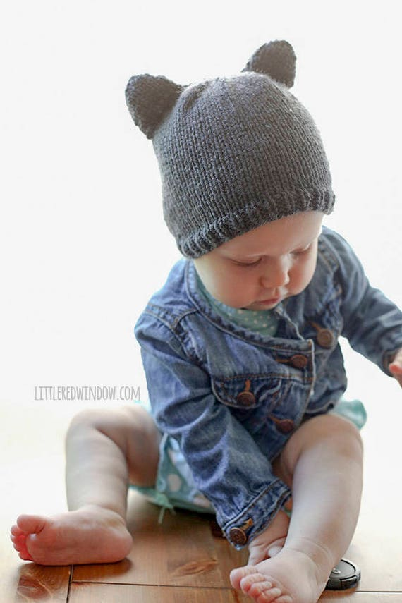 Baby Bär Mütze Stricken Muster mit Ohren / Bär Hut Muster Hase | Etsy
