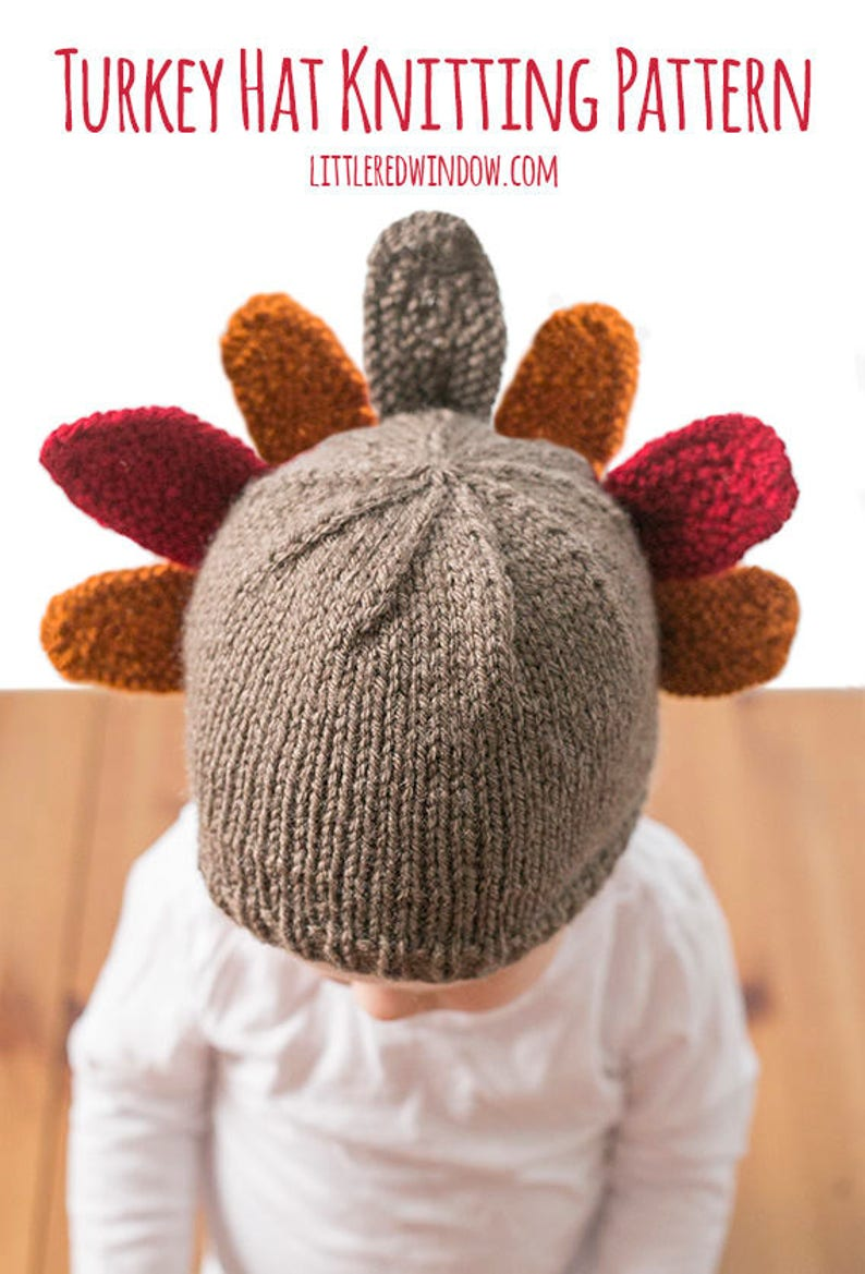 Thanksgiving Turkey Hat KNITTING PATTERN for babies and  6d7e13f3ee2