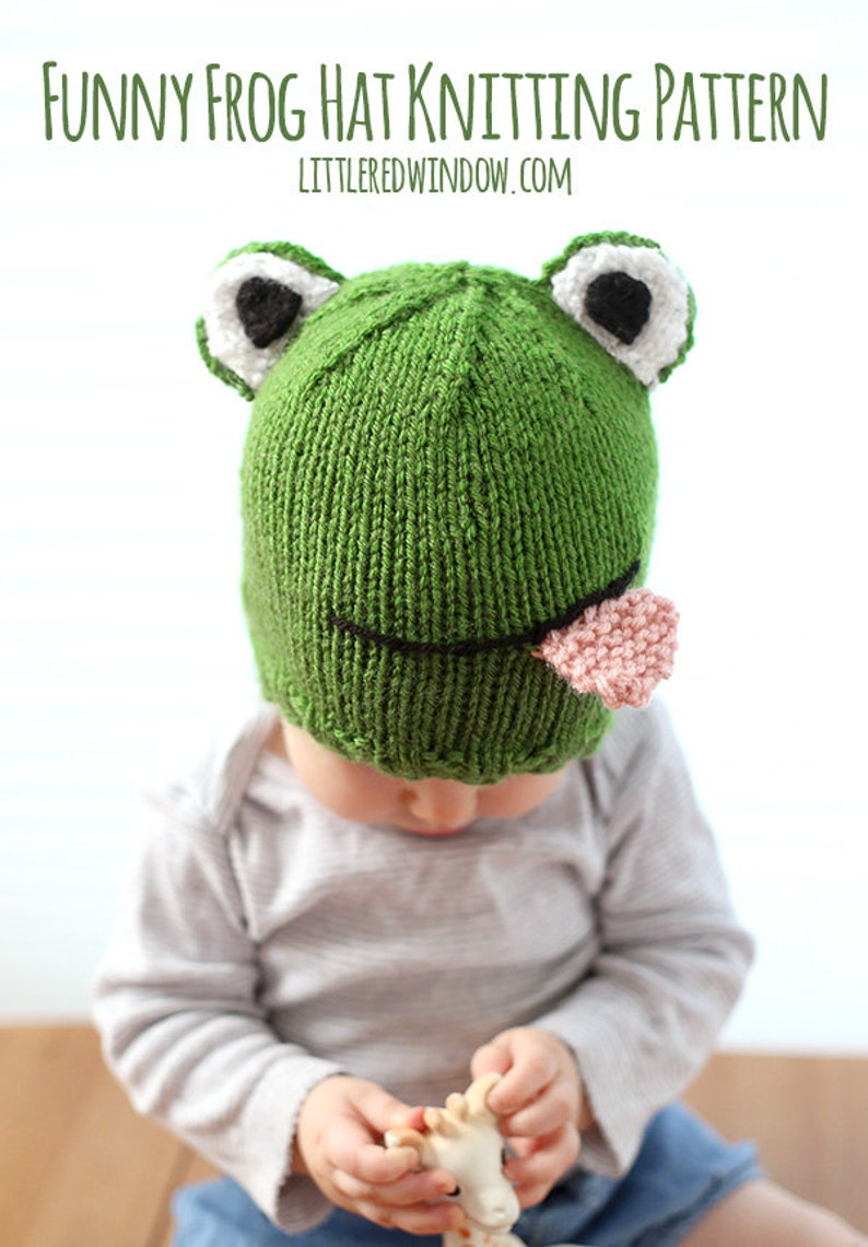 d7f99a188a9 Baby Frog Hat KNITTING PATTERN   Frog Hat Pattern   Knit Frog