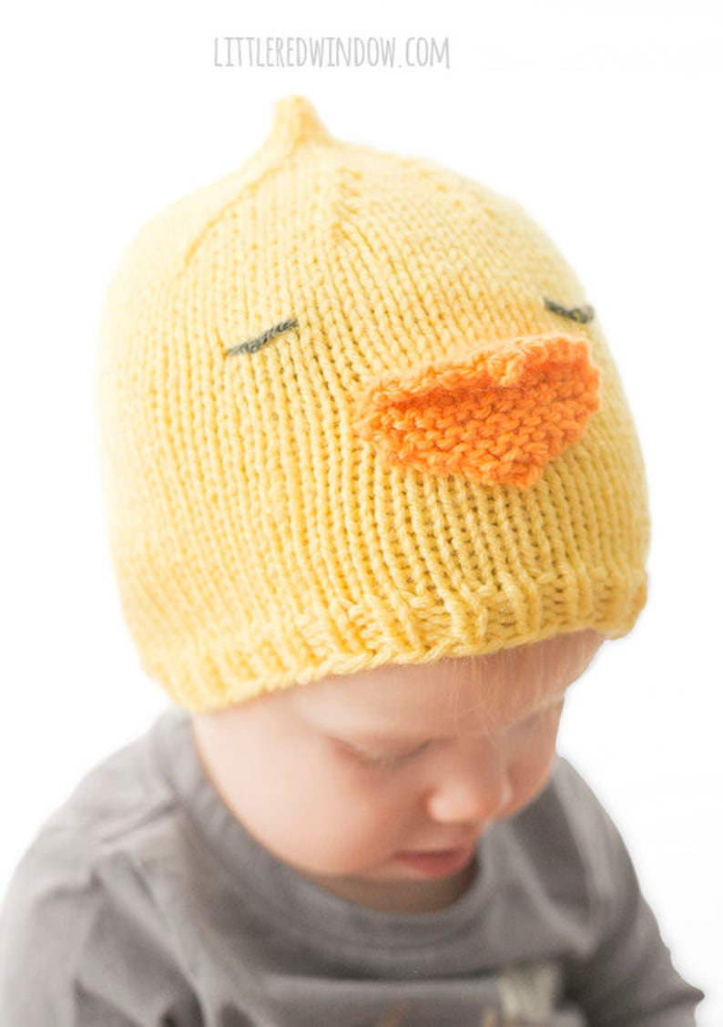 Baby Chick Hat KNITTING PATTERN   Baby Chicken Hat   Easter  904878bbdc1