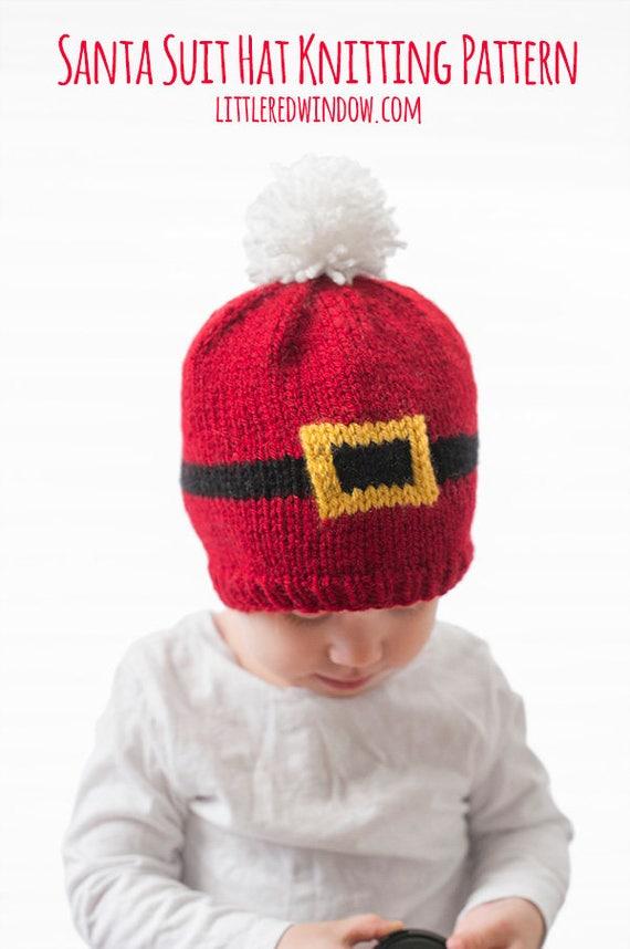 Baby Santa Suit Hat KNITTING PATTERN / Santa Hat Pattern / | Etsy