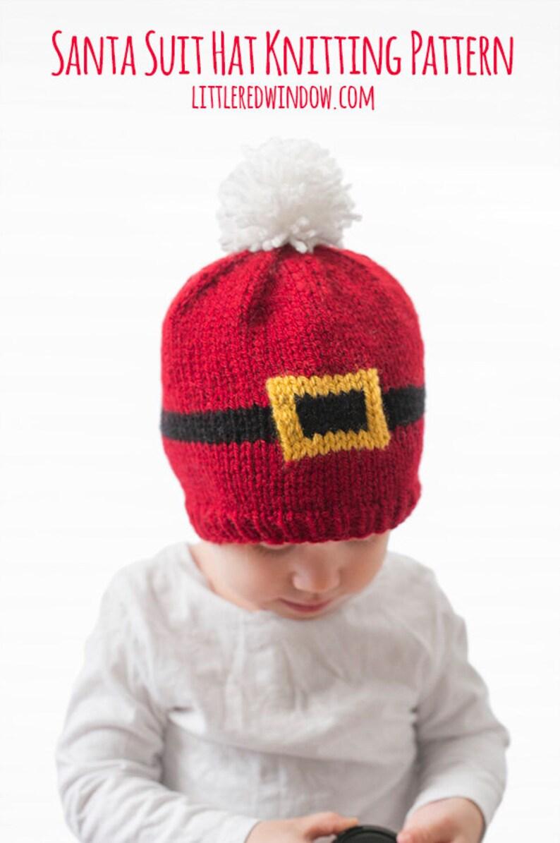 b25b7c89af9 Baby Santa Suit Hat KNITTING PATTERN   Santa Hat Pattern