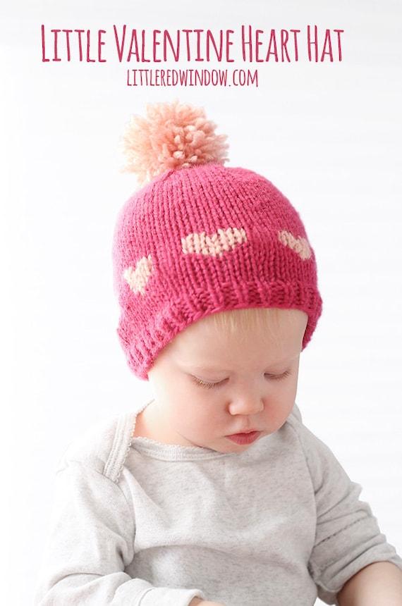 Heart Hat Knitting Pattern Heart Hat Pattern Valentine Hat Etsy