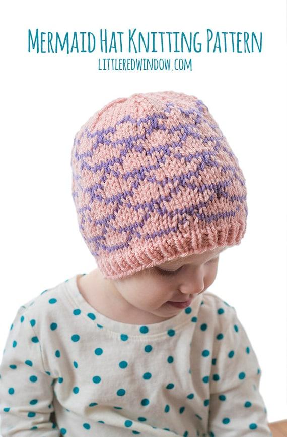Mermaid Hat Knitting Pattern Mermaid Pattern Mermaid Hat Etsy