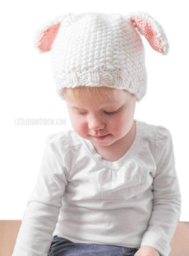 Sombrero del bebé que hace punto patrón del cordero blanco   Etsy