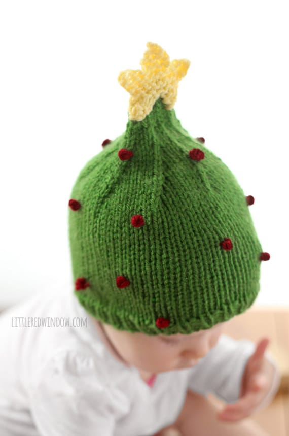 Christmas Tree Hat KNITTING PATTERN   My First Christmas    5d7cd7abbc48
