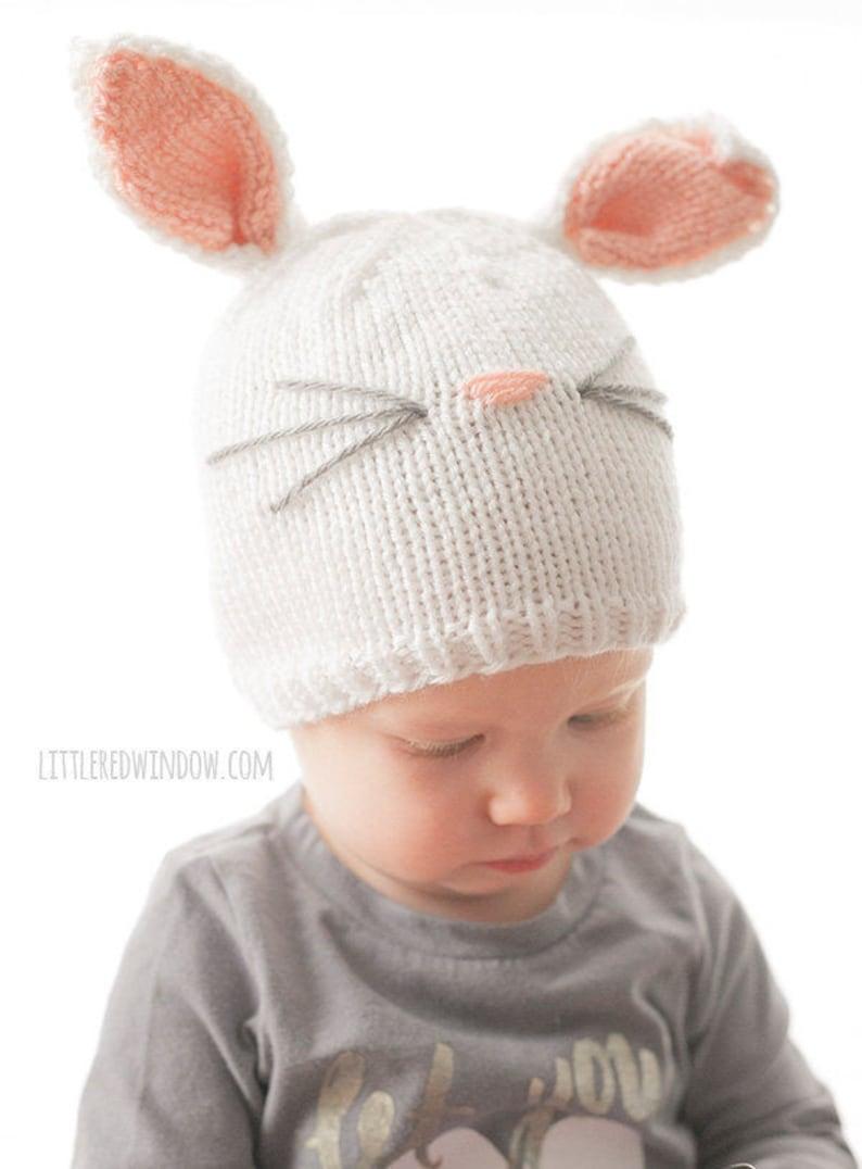 3373cfe8138 Baby Bunny Hat KNITTING PATTERN   Bunny Hat Pattern   Bunny