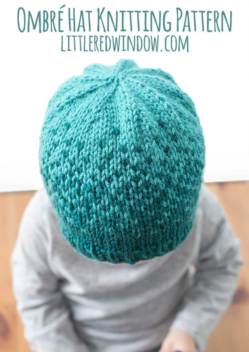 Baby Ombre Hat KNITTING PATTERN   Fair Isle Pattern  Ombre  e55ea9970db8