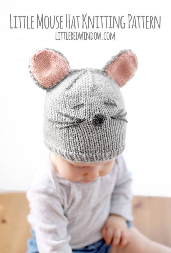 Baby Mouse Hat KNITTING PATTERN / Mouse Hat Newborn / Mouse | Etsy