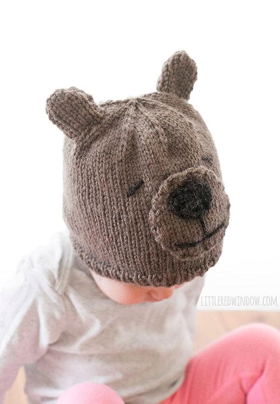 Teddy Bear Hat Knitting Pattern Bear Hat Patternbaby Teddy Etsy