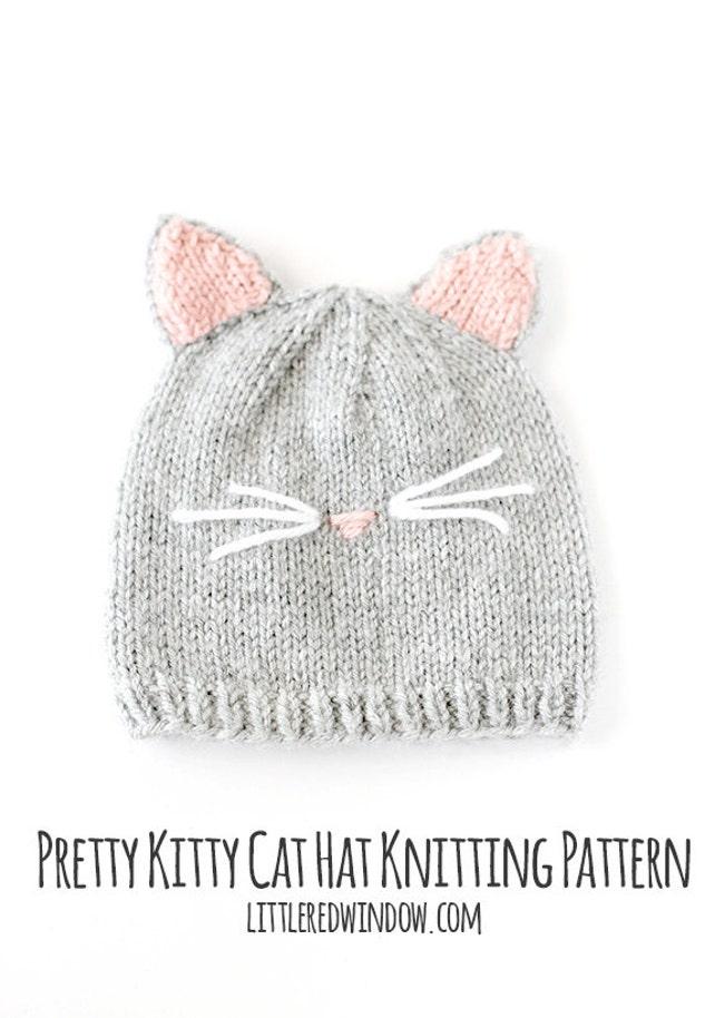 Gato sombrero del patrón que hace punto / bebé patrón del | Etsy