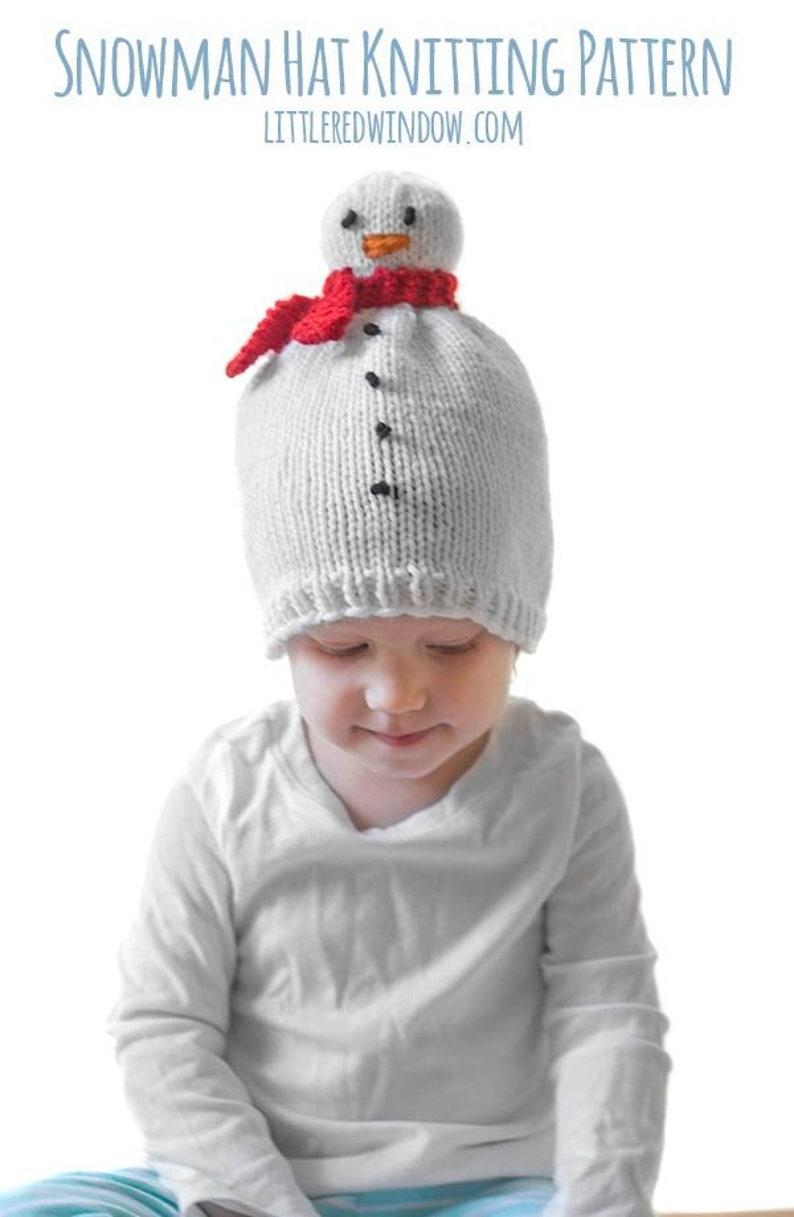899aaab3230 Snowman Hat KNITTING PATTERN   Snowman Pattern   Newborn