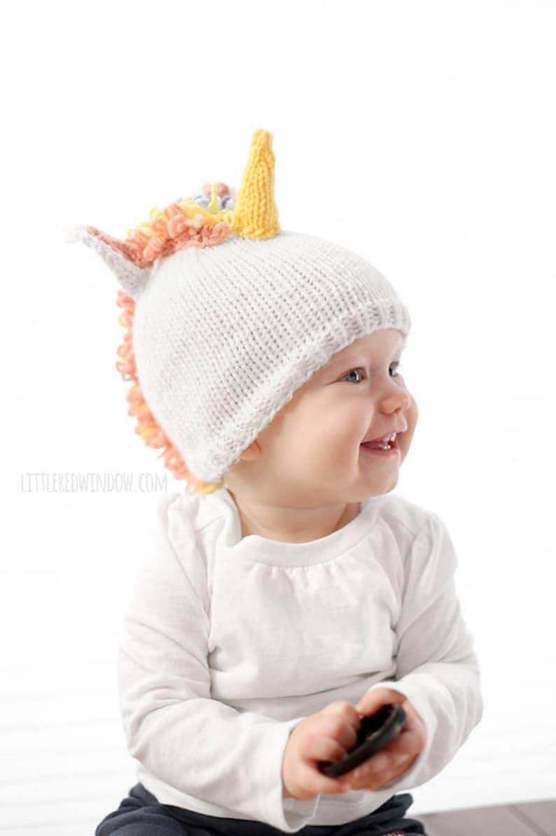 2cb84e010c3 Baby Unicorn Hat KNITTING PATTERN   Unicorn Pattern   Unicorn