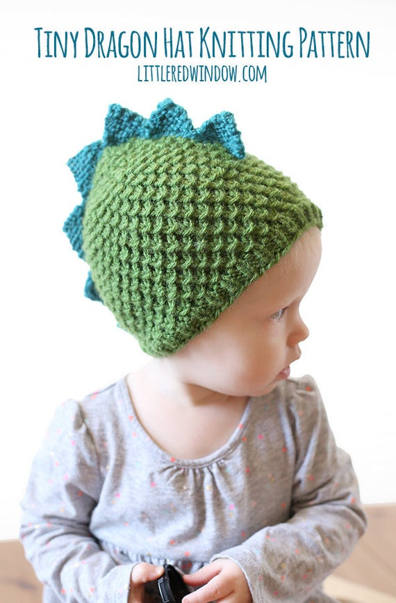 Dragon Hat Pattern Knitting Pattern For Babies And Toddlers Etsy